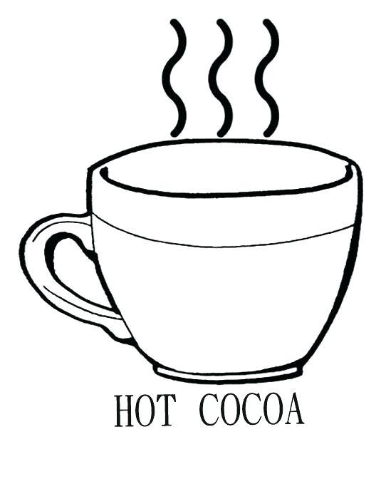 542x672 Cup Coloring Pages