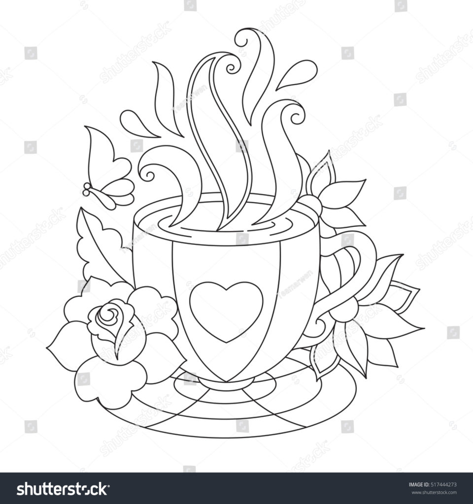960x1024 Coffee Cup Coloring Pages