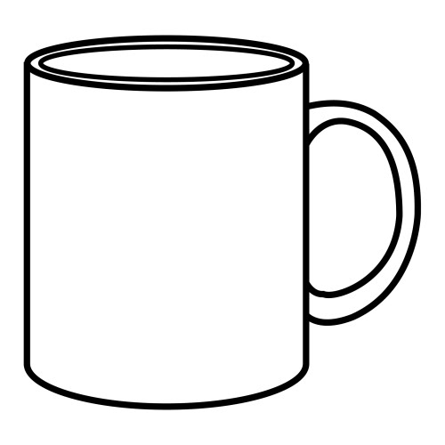 500x500 Coffee Mug Coloring Page