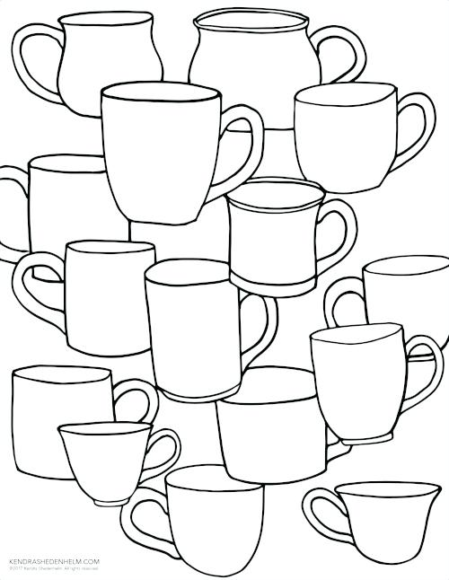 500x646 Coffee Cup Coloring Page Fuhrer Von