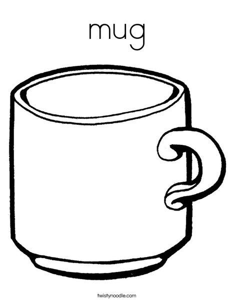 468x605 Mug Coloring Page