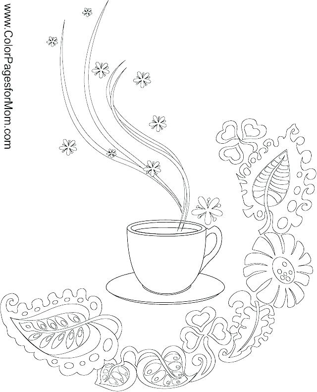 Coffee Mug Coloring Page At Getdrawings Com Free For Personal Use