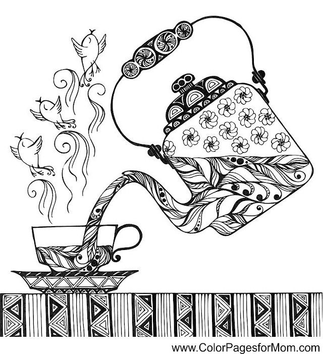 Coffee Shop Coloring Pages