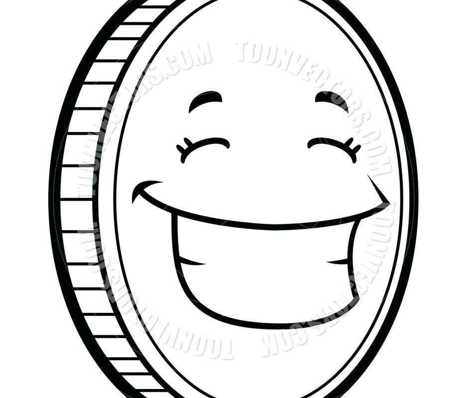 940x800 Coin Coloring Pages Coins Coloring Sheet For Toddler Free Coin