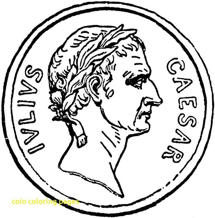 736x745 Coin Coloring Pages With Ideas Coins Coloring Page