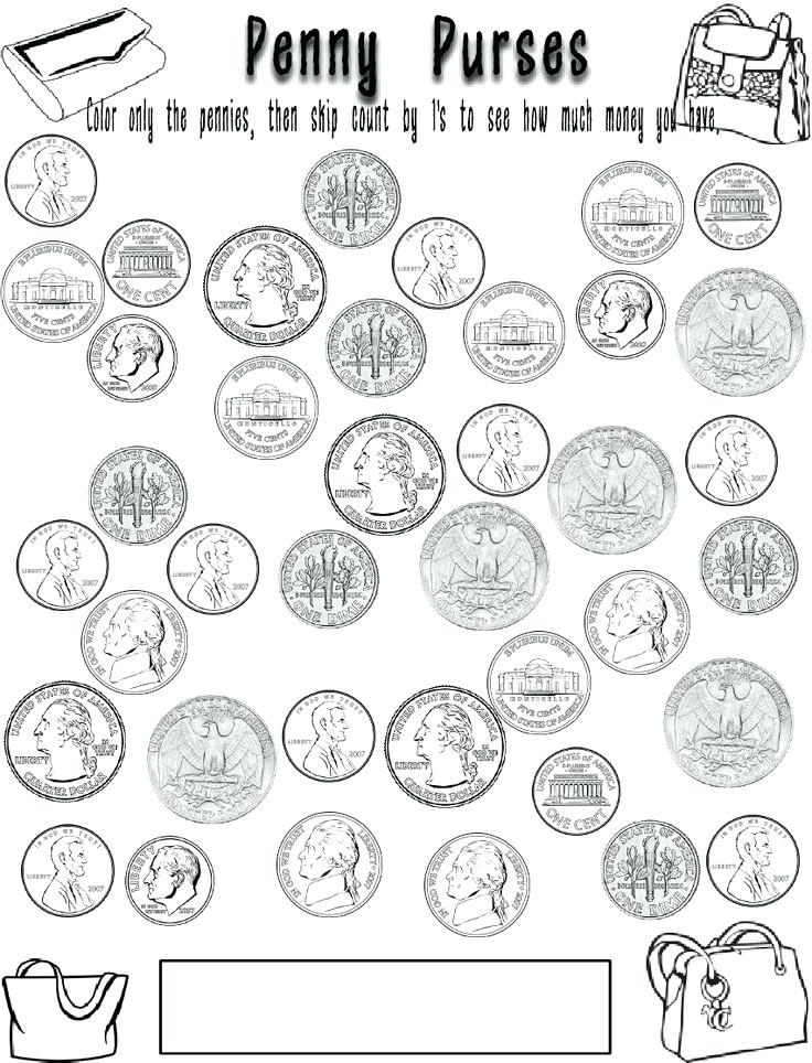 736x964 Coin Coloring Pages Coin Coloring Page Epic Coin Coloring Page