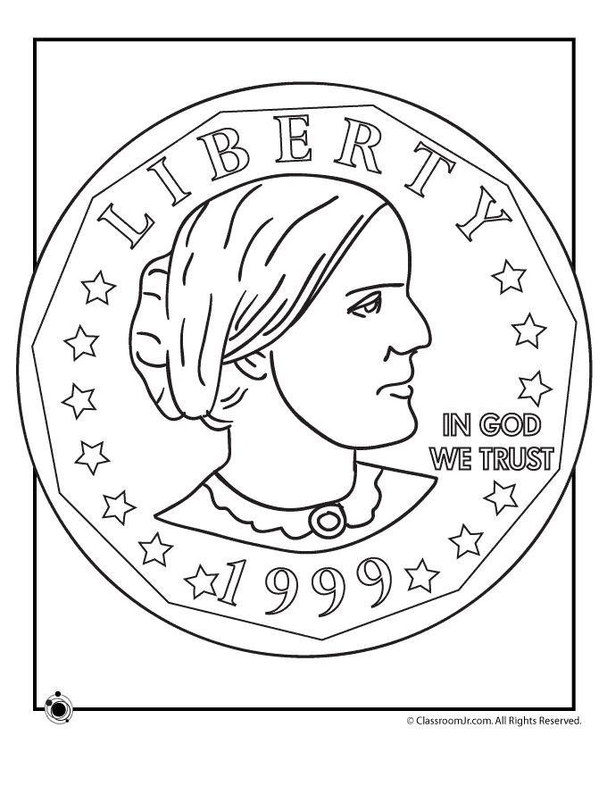 680x880 Susan B Anthony Coin Coloring Page Kid Activities And Activities