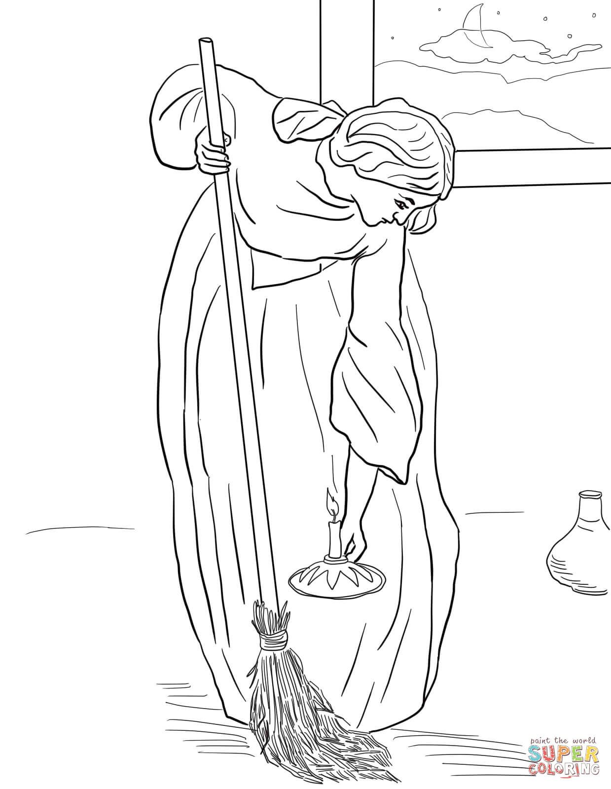 1239x1600 Lost Coin Parable Coloring Page Lesson Parables