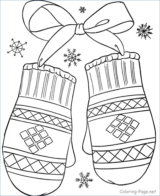 670x820 Freezing On Snow Winter Coloring Page
