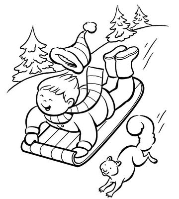 360x400 Printable Winter Coloring Pages