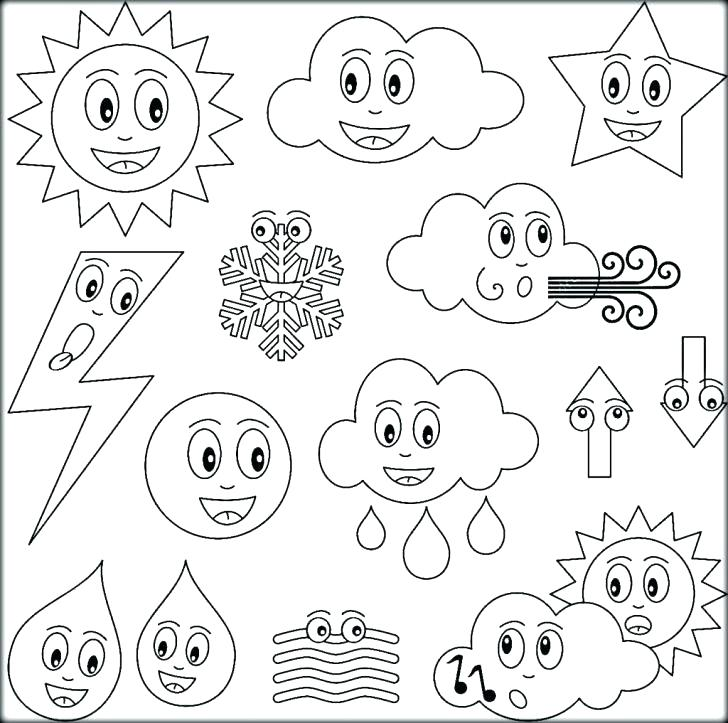 728x723 Weather Coloring Page Weather Coloring Sheets Winter Weather