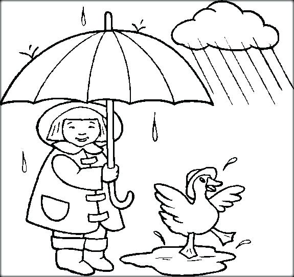 575x541 Weather Coloring Pages Weather Coloring Pages Kids In Rain A Free