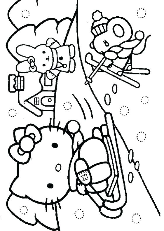562x791 Winter Coloring Pages Free Winter Colouring Pages Kitty Color