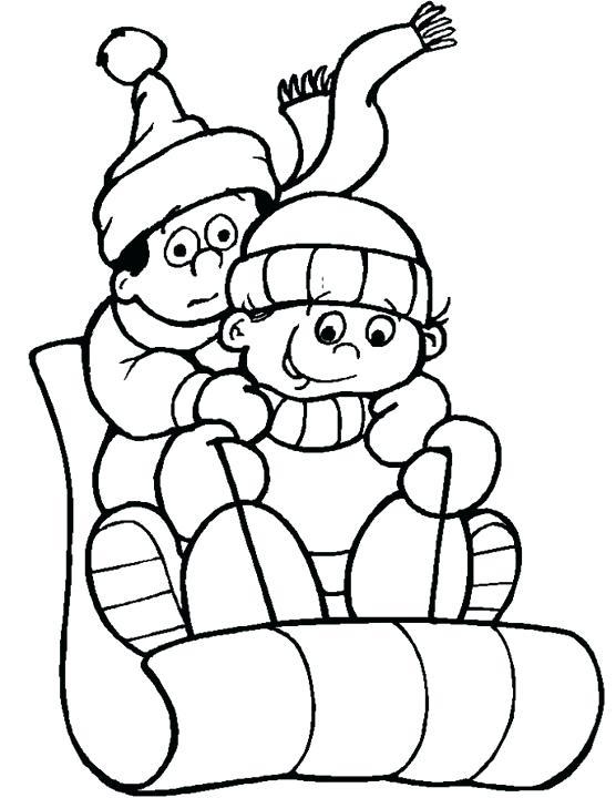 556x720 Winter Coloring Sheets Free Printable