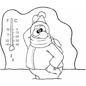 300x300 Cold Weather Coloring Page