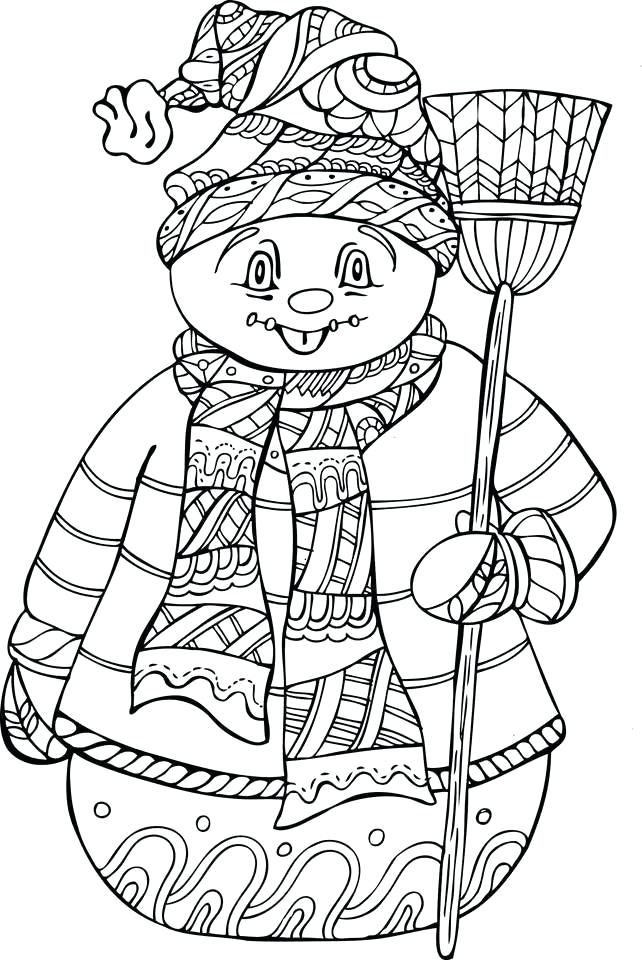 642x960 Winter Coloring Pages
