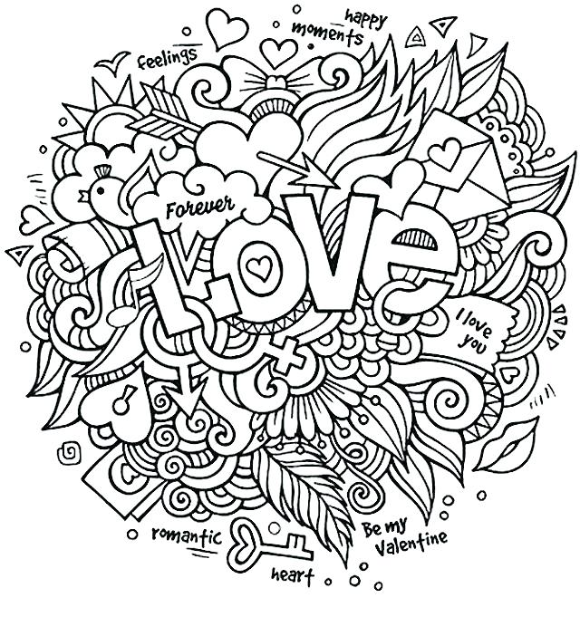 640x681 Collage Coloring Pages Collage Coloring Pages Love Collage