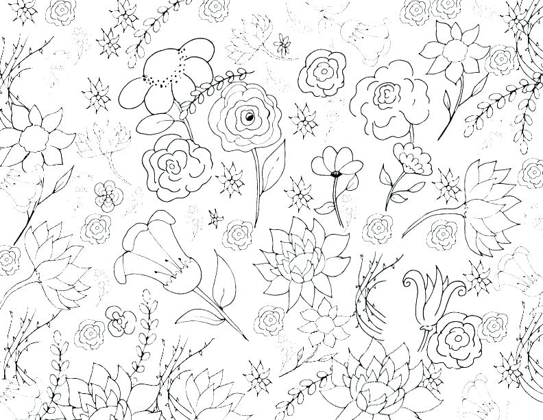 792x612 Collage Coloring Pages Doodle Collage