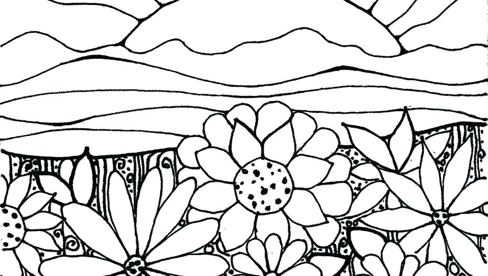 960x544 Garden Coloring Page Collage Coloring Pages Garden Pictures