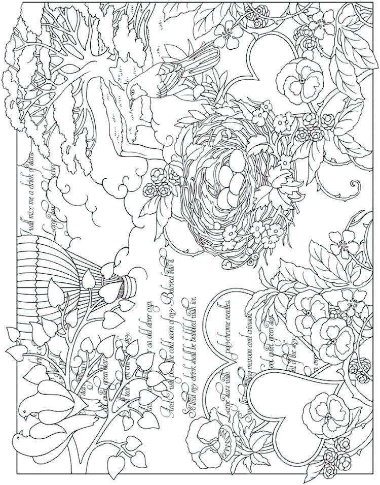 750x955 Collage Coloring Pages