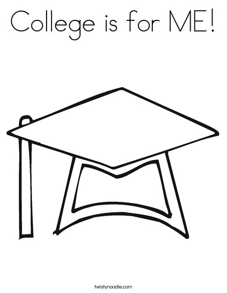468x605 College Is For Me Coloring Page