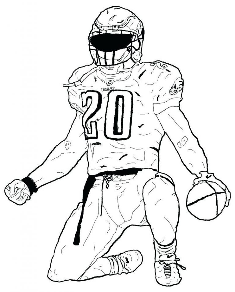 768x954 Nfl Coloring Pages Players New Football College To Print Teams