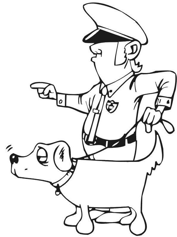 595x795 Pictures Policeman And Dog Coloring Pages College Coloring Book