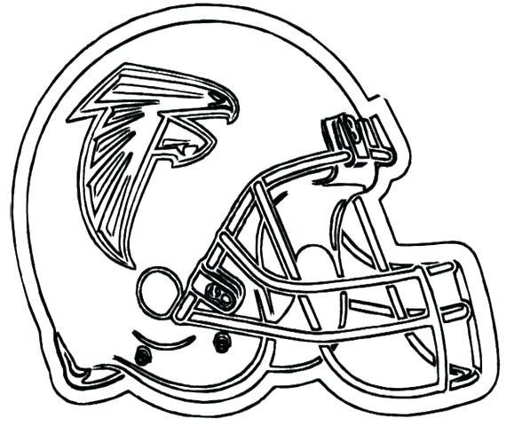 570x498 Coloring Pages Football Helmet Free College Logo Coloring Pages