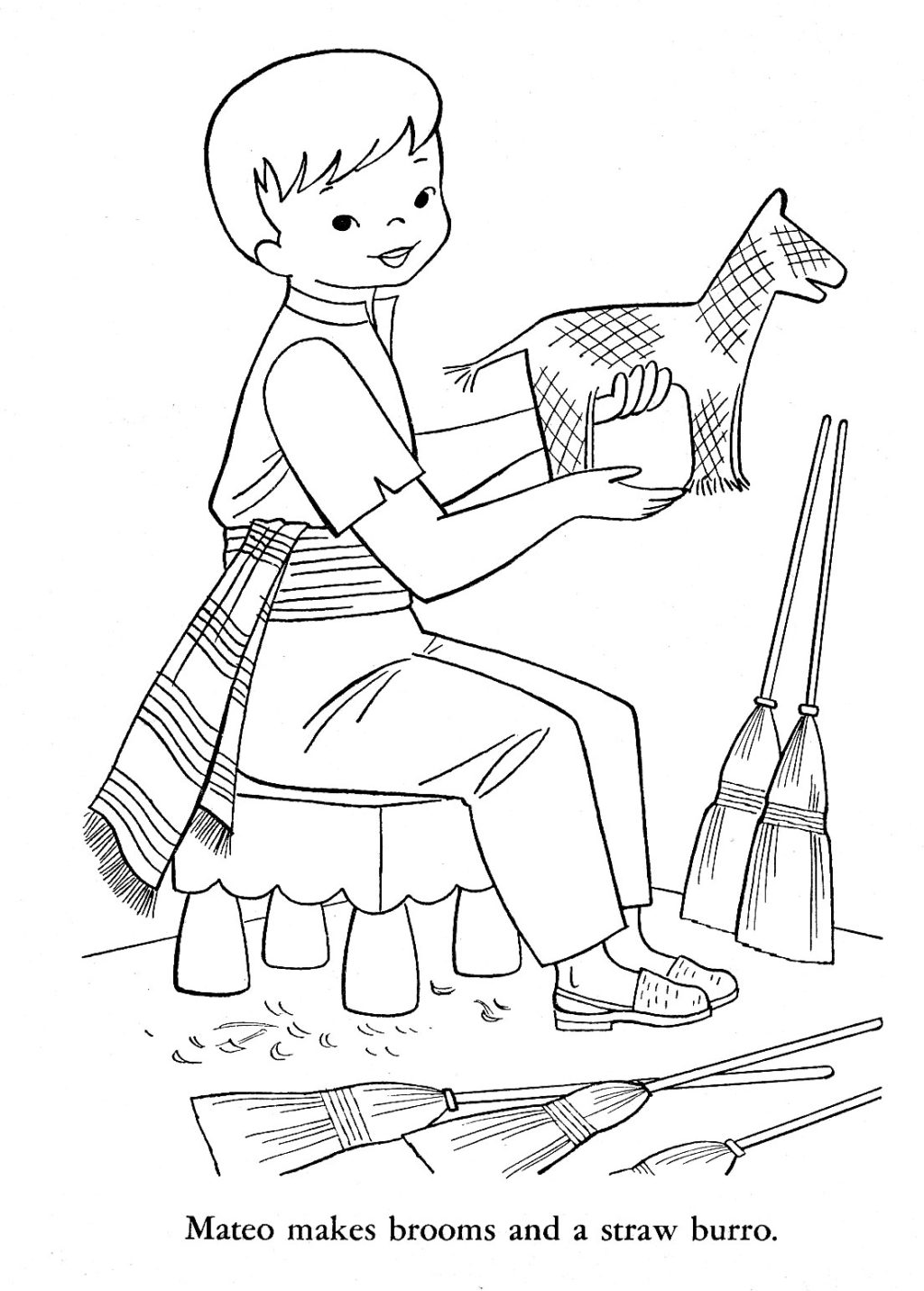 1024x1431 Colonial Era Toys Coloring Pages Colonial Boy Coloring Page