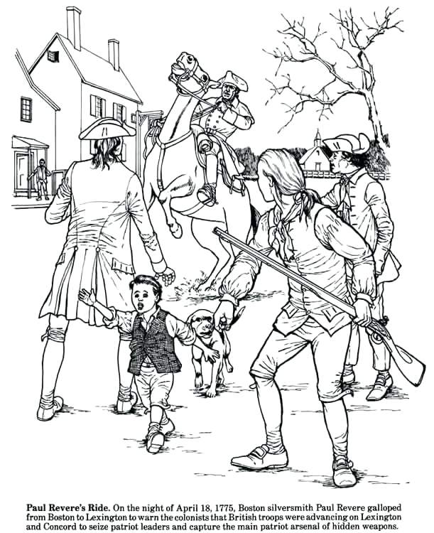 611x750 Colonial History Coloring Pages Or Colonial Sense Society