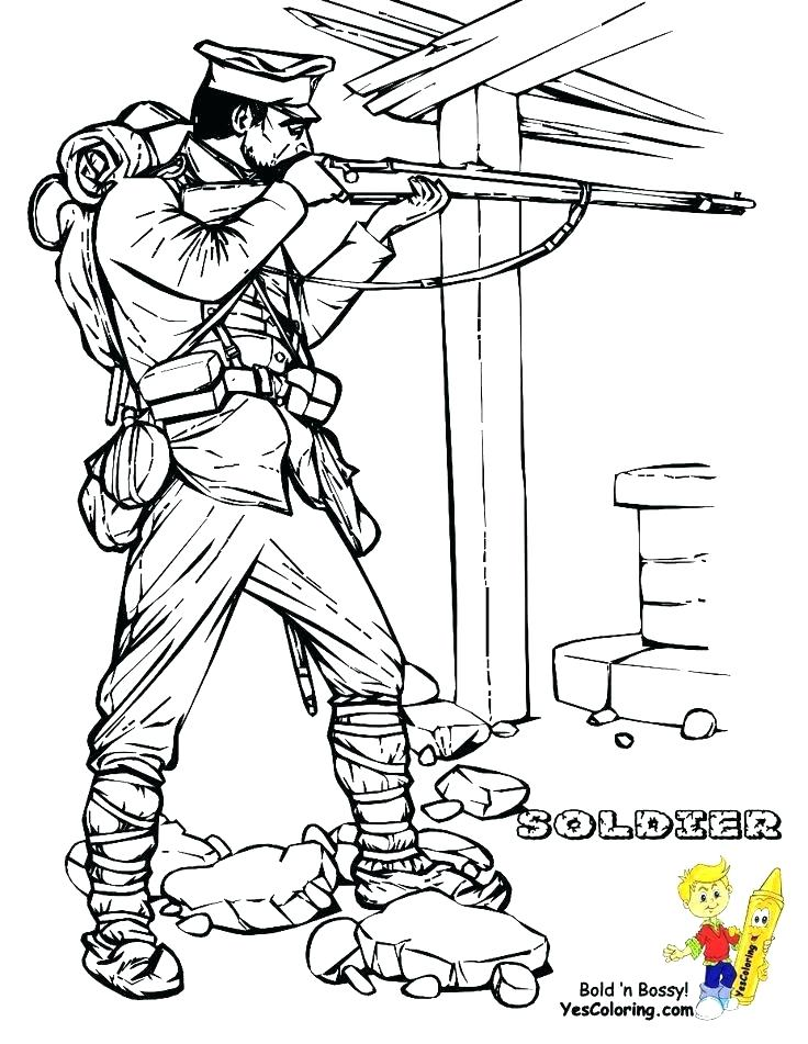 736x951 Coloring Pages For Kids Free Soldiers Colonial Soldier World War I