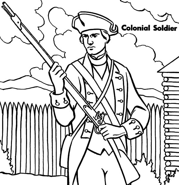 600x622 Military Colonial Soldier Coloring Pages Color Luna