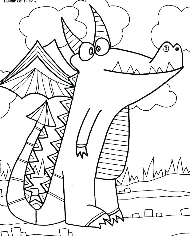 618x768 Color Alive Pages Elegant Mythical Creatures Coloring Pages Online