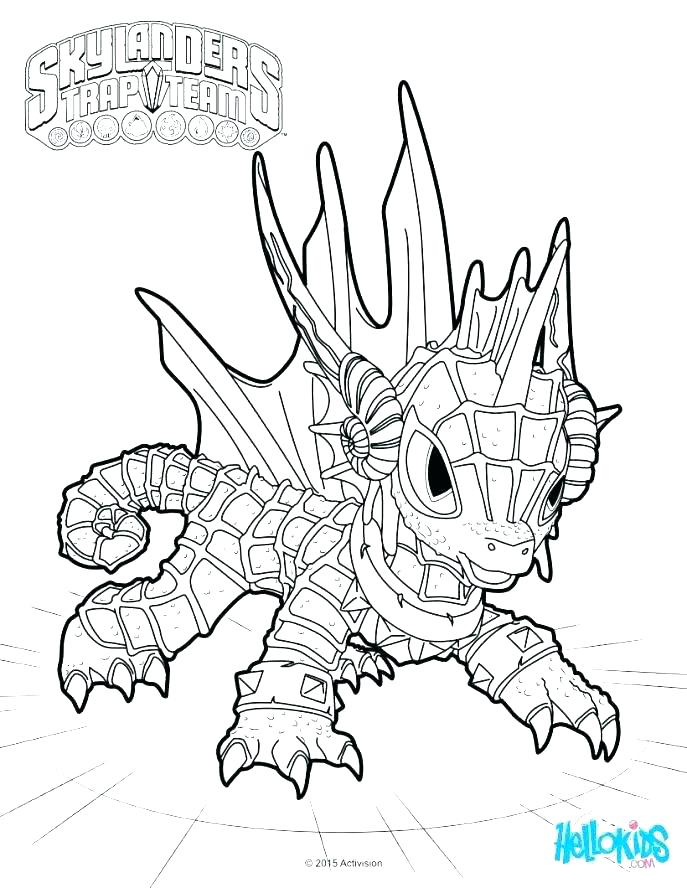 687x888 Free Printable Colouring Pages Skylanders Color Alive Coloring