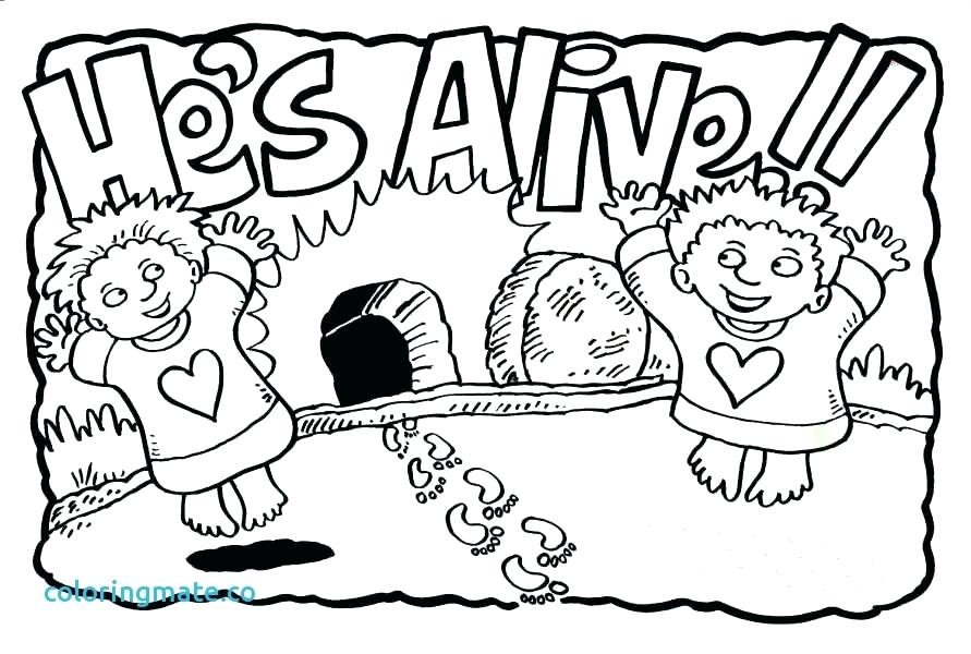 891x600 Jesus Is Alive Coloring Page Color Alive Pages Inspirational Free