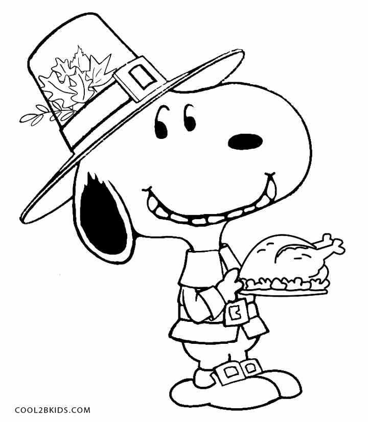 720x826 Charlie Brown Thanksgiving Coloring Pages