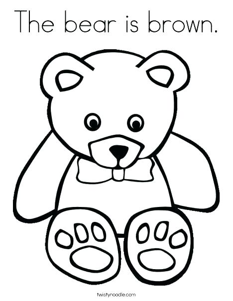 468x605 Cute Teddy Bear Coloring Pages Teddy Bear Color Page Brown
