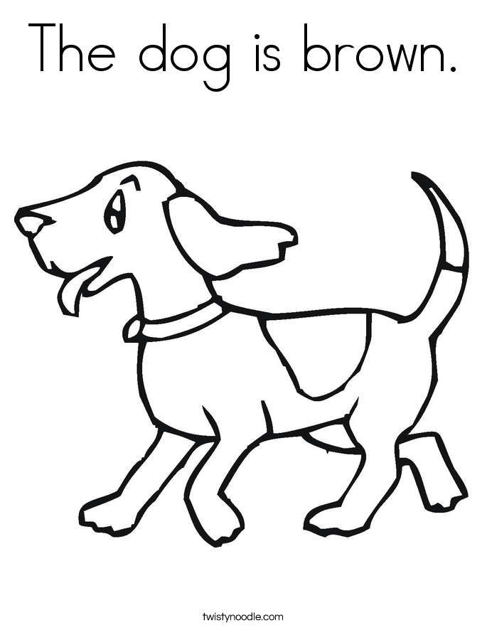 685x886 The Dog Is Brown Coloring Page