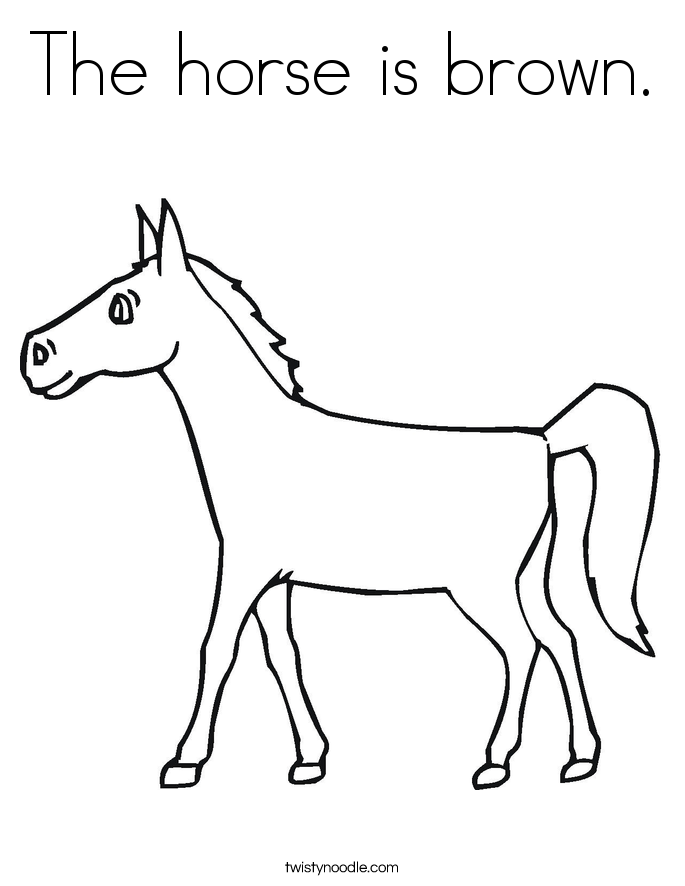 685x886 The Horse Is Brown Coloring Page