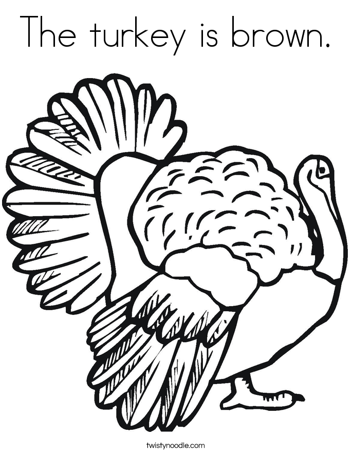 685x886 The Turkey Is Brown Coloring Page