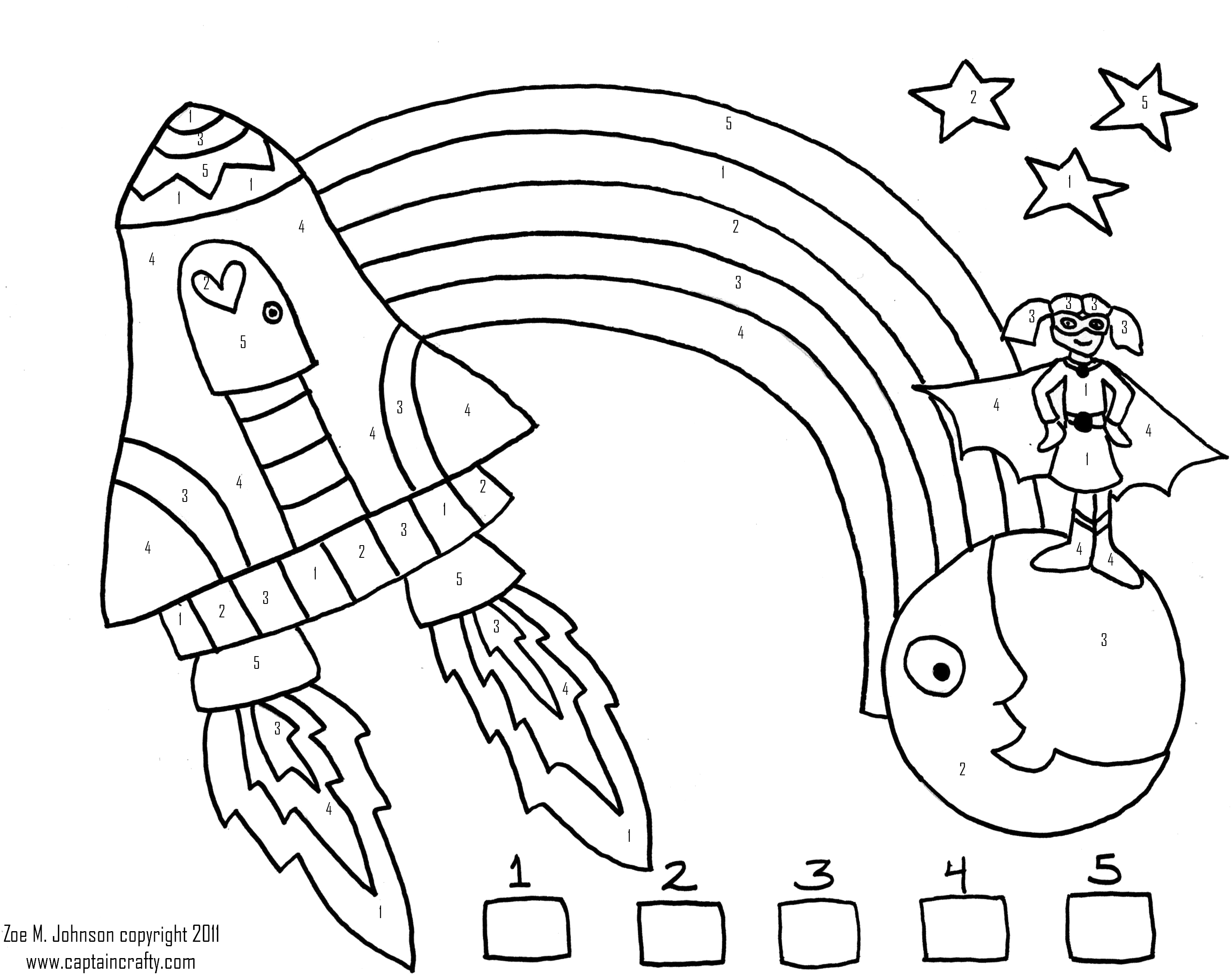 3021x2387 kids space girl color number sheet the handmade adventures