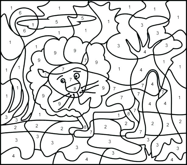 Color By Number Coloring Pages For Adults At GetDrawings Free Download