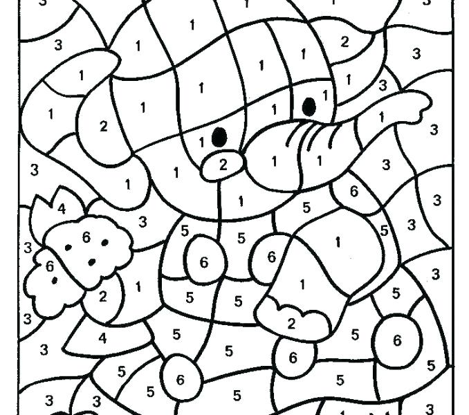 678x600 Coloring Pages Numbers Color