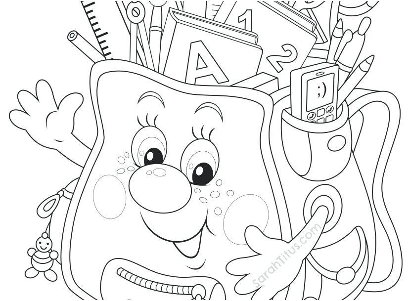 827x609 Kindergarten School Coloring Pages Professional