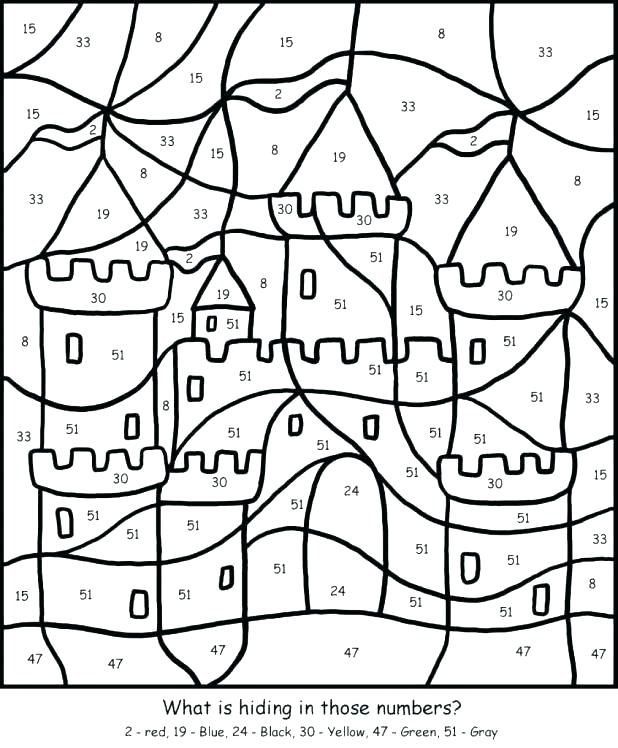 Color By Number Coloring Pages Free at GetDrawings.com | Free for ...