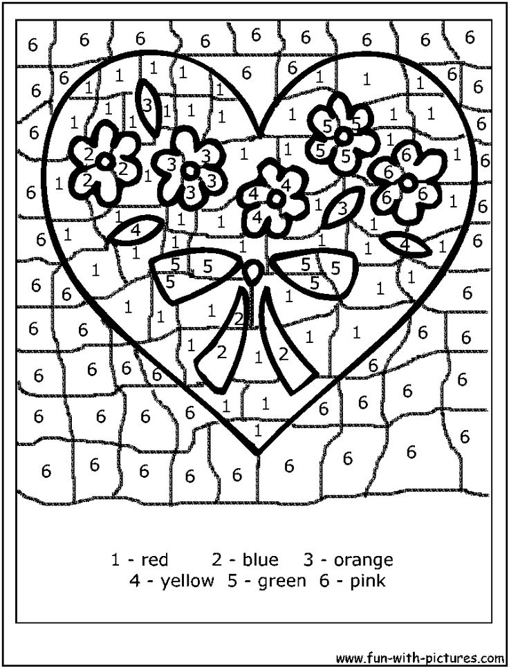 Color By Number Coloring Pages Free At Getdrawings Com Free For