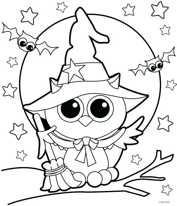 600x699 Halloween Coloring Page Color