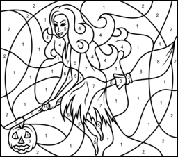 256x226 Halloween Coloring Pages