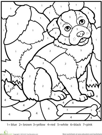 Color By Number Printable Coloring Pages