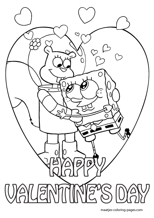 595x842 Spongebob Valentine Coloring Pages Spongebob Valentines Day